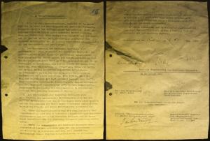 Kapitulationserklärung der Deutschen Wehrmacht, 8. Mai 1945 Berlin-Karlshorst